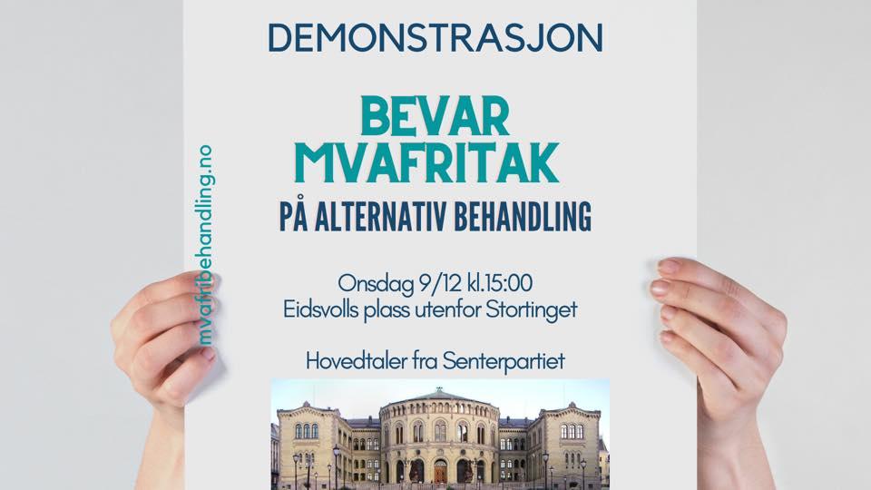 Demonstrasjon fremfor Stortinget 9. desember